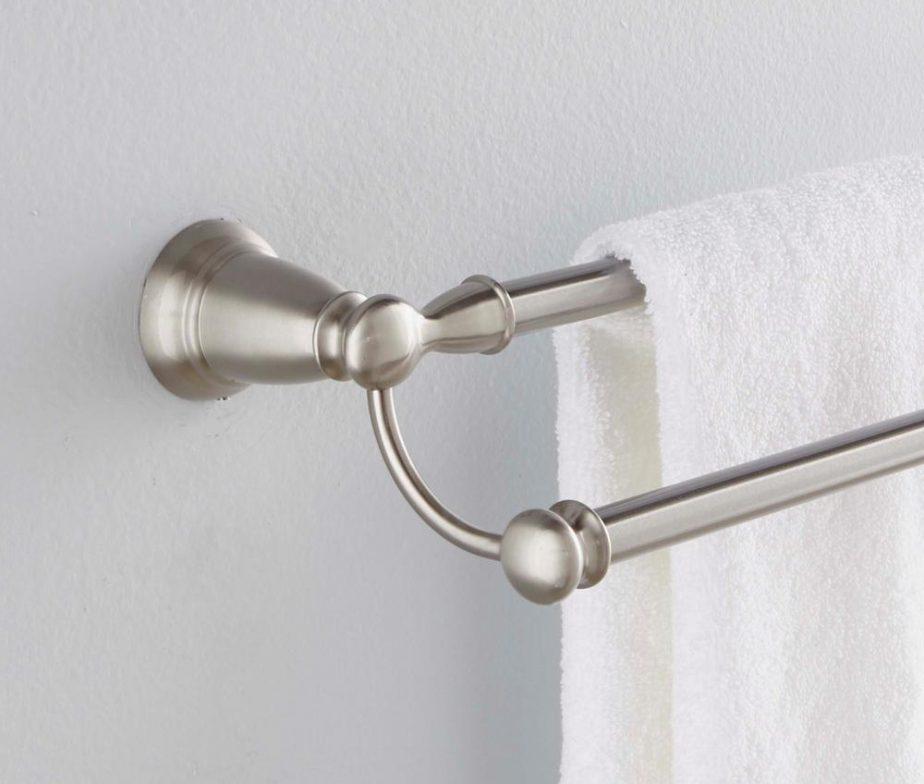 Banbury 24 In Double Towel Bar In Spot Resist Brushed Nickel Lowest Price Depot
