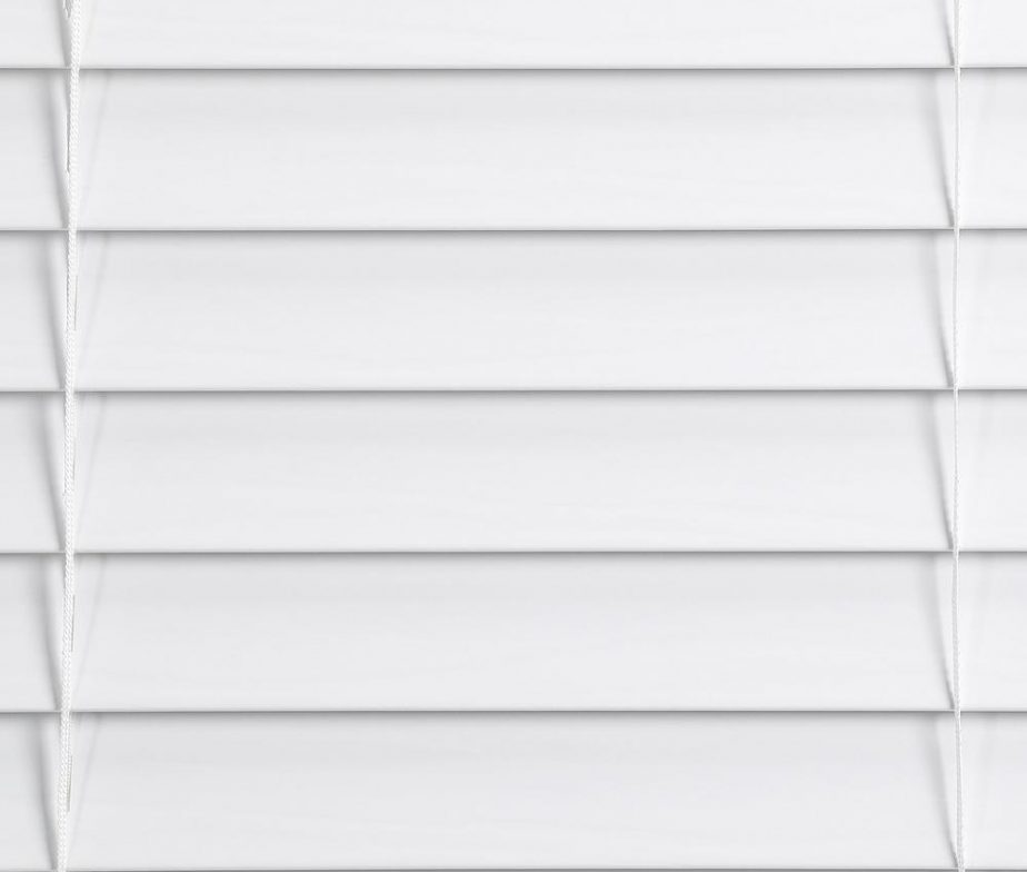 White Faux Wood Blind With 2 In Slats Lowest Price Depot