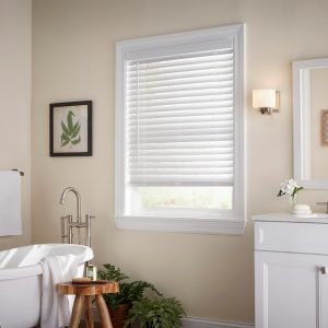 White Cordless 2 in. Faux Wood Blind